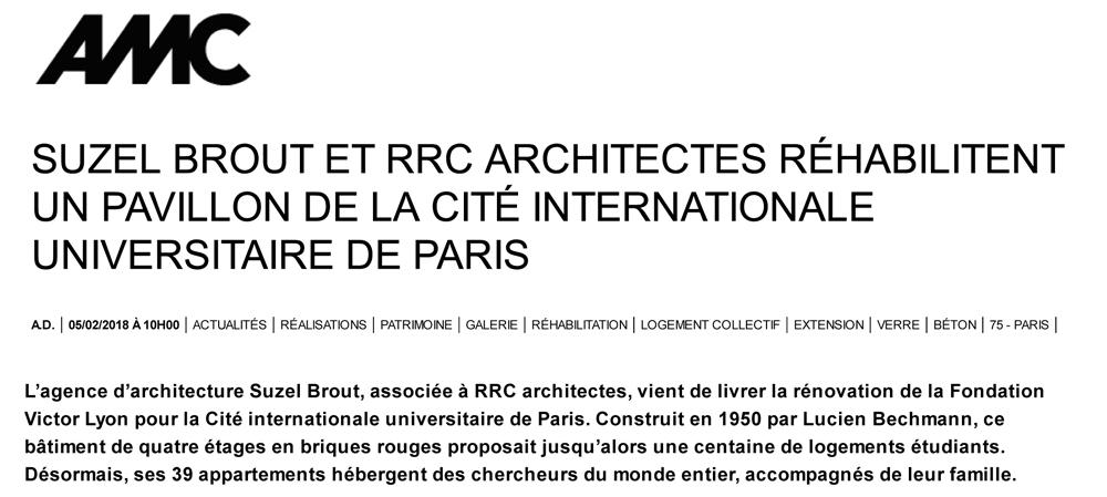 Suzel Brout et RRC architectes réhabilitent un pavillon de la Ci